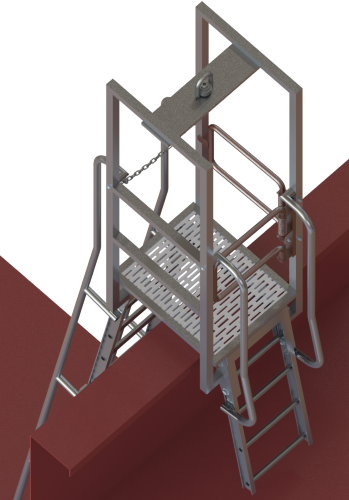"FIXED ""A"" FRAME LADDER"
