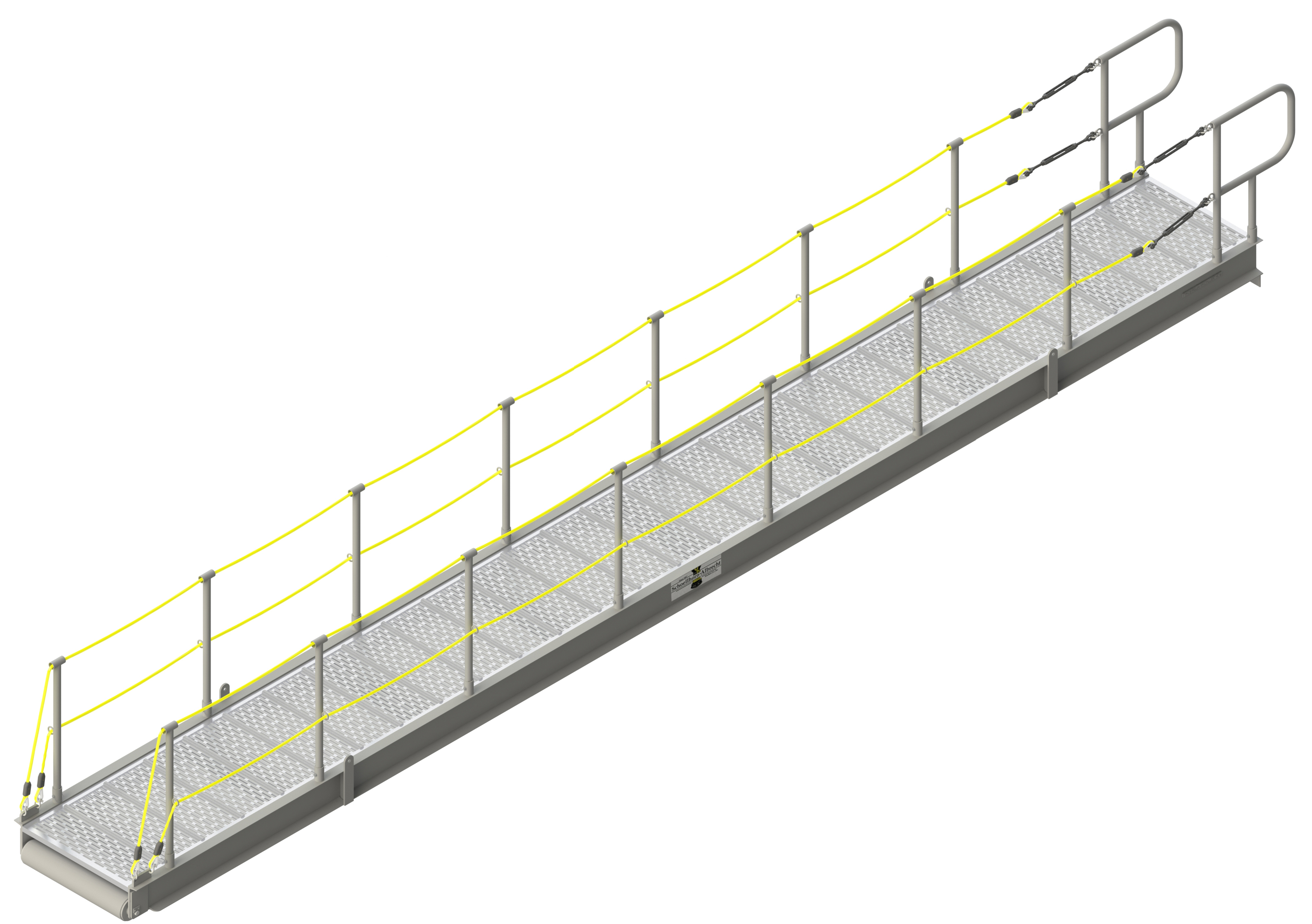 GANGWAY WITH REMOVABLE RAILS