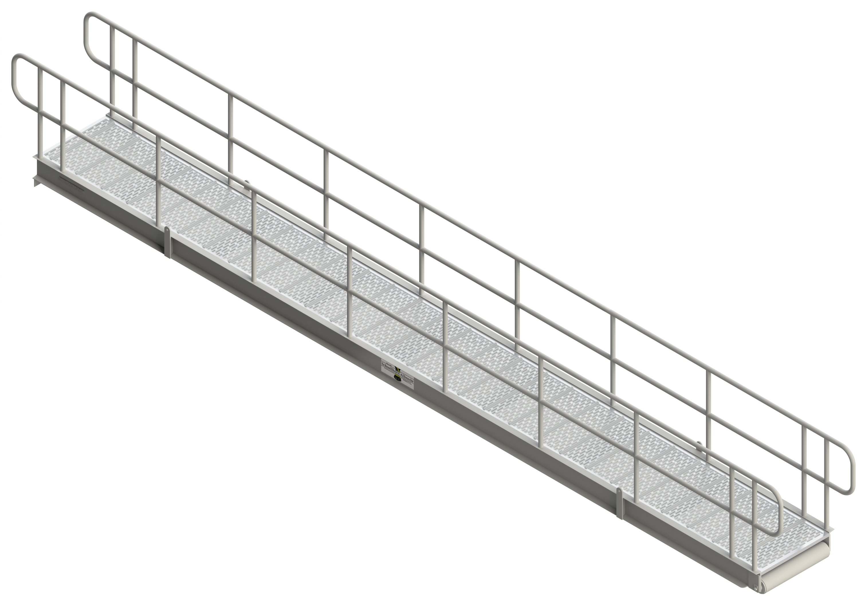GANGWAY WITH FIXED RAILS