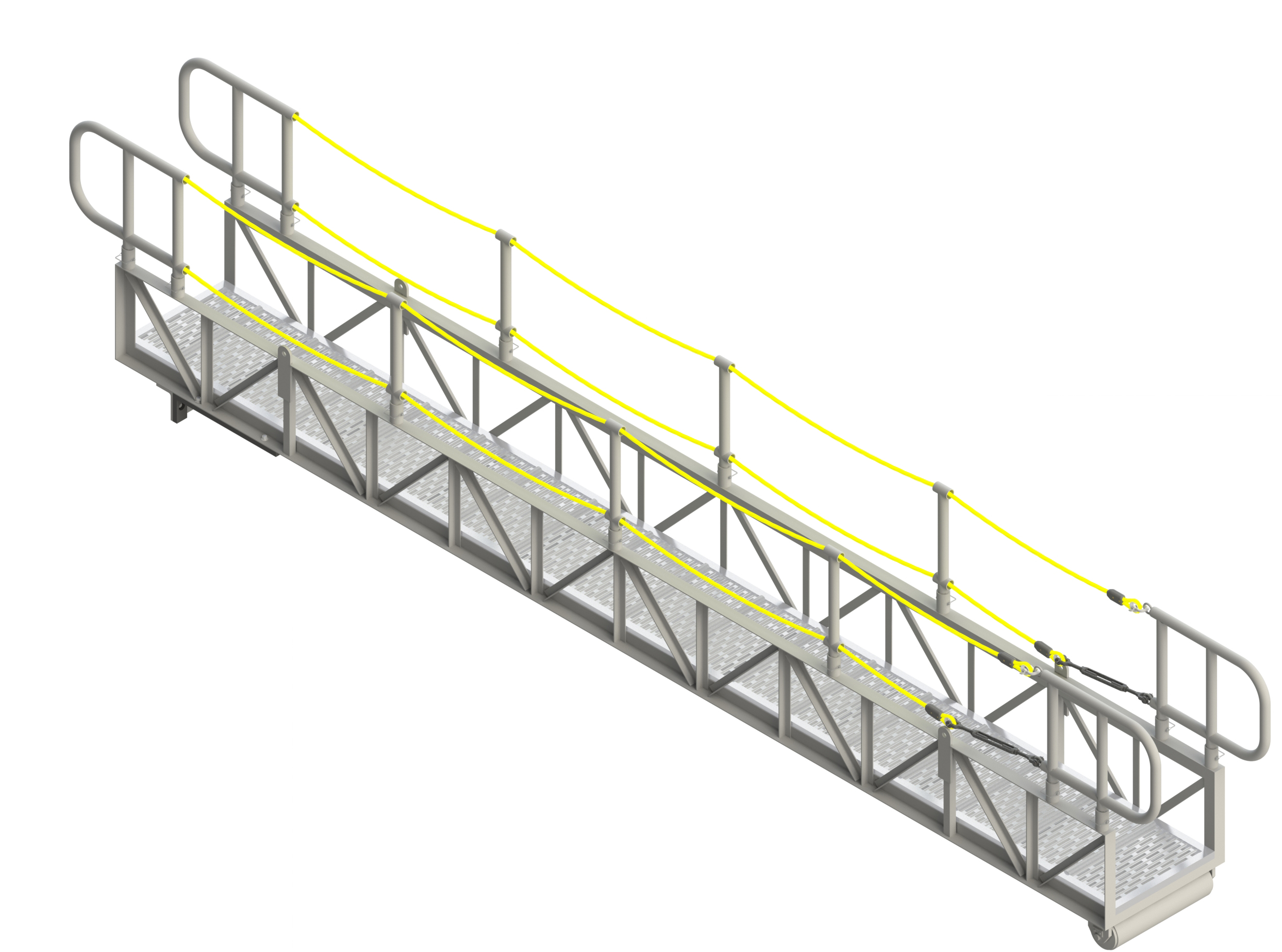 GANGWAY LIGHT TRUSS WITH ROPE RAILS