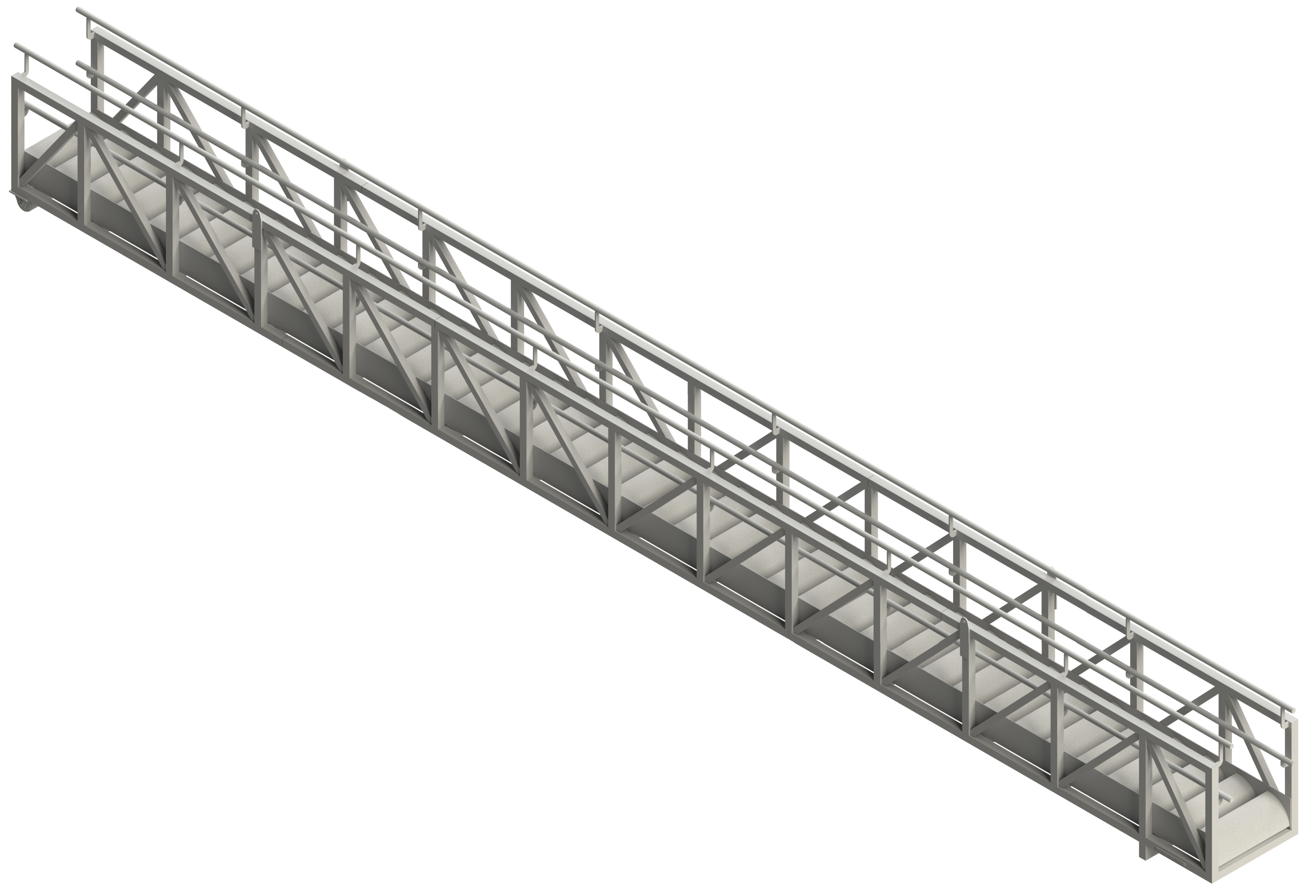 GANGWAY TRUSS WITH FIXED RAILS