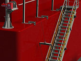 Accommodation Ladder - Self Stowing, Feathering Treads, Upper Rotating Platform, Lower Platform