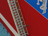 Accommodation Ladder - Self Stowing, Curved Treads, Upper Rotating Platform, Lower Platform