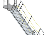 Gangway - Ship Gangway with Rope Handrails and Upper Rotating Platform