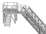 Accommodation Ladder - Truss Ladder with Uppoer Rotating Platform and Fixed Platform