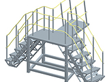 Accommodation Ladder - Dock Platform Stair with Ramp Access Concept