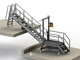 Accommodation Ladder - Dock to Barge System with Portable Base