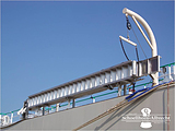 Accommodation Ladder - Stowed Position, Self Stowing, Curved Treads, Removable Handrails, Davit