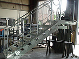 Accommodation Ladder - Feathering Tread, Fixed Handrails, Upper Rotating Platform