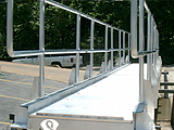 Gangway - Beam Style, Fixed Handrails, Dock Wheels