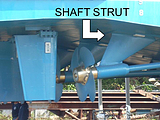 Fire Boat Shaft Strut